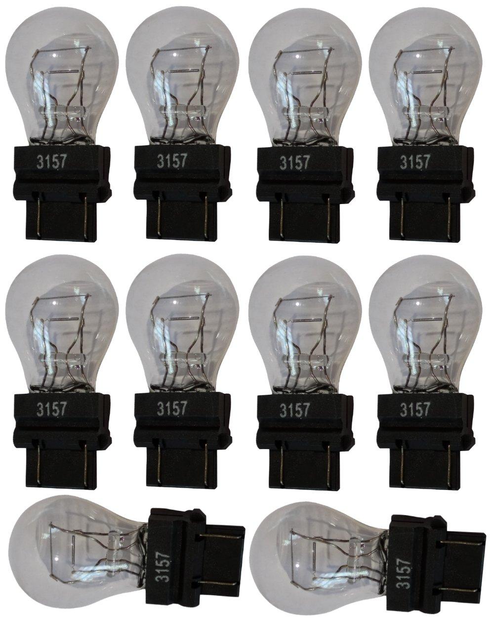 Aerzetix: 10x Ampoule 12V 3157 W2.5x16Q P27/7W SK2-C12034-AB6