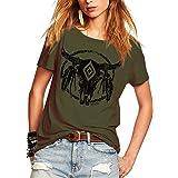 Romastory Womens Street Pattern Novelty T-Shirt Short Sleeve Loose Summer Tops Tee Shirts