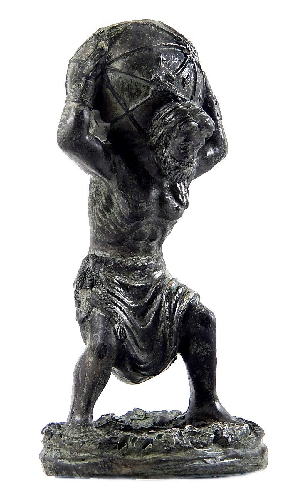 Bellaa 22692 Atlas Holding World Greek Statue Roman Mythology 6 inch