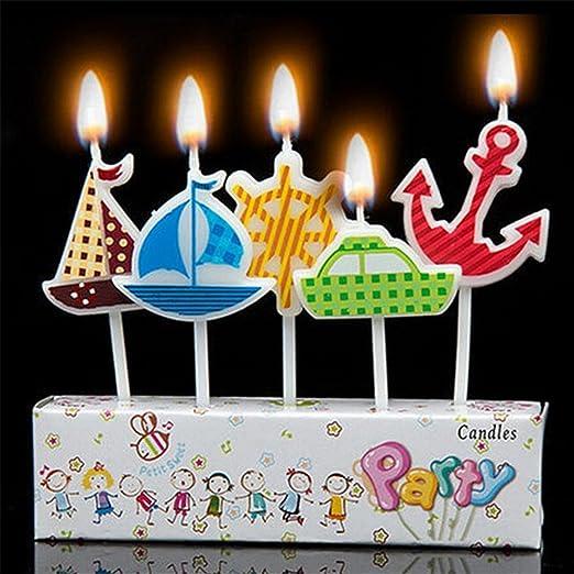 Tarta de cumpleaños velas - náuticas barcos ancla rueda ...