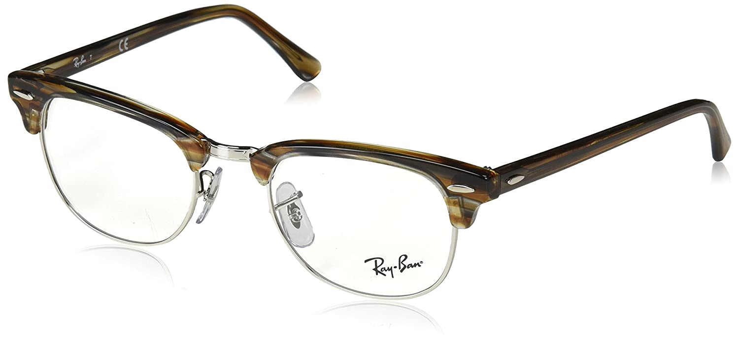 d24cb0ebba Amazon.com  Ray-Ban Clubmaster No Polarization Square Prescription Eyewear  Frame