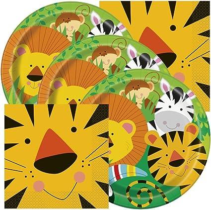 Amazon.com: Servilletas y platos temáticos para fiestas de ...