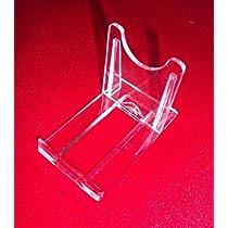 Sehr 10 Tellerständer Tellerhalter Acryl 40 x 70 mm Höhe 50 mm: Amazon KF06
