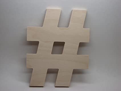 Amazon Letterworx 8 Wooden Sign Hash Tag Symbol Arial
