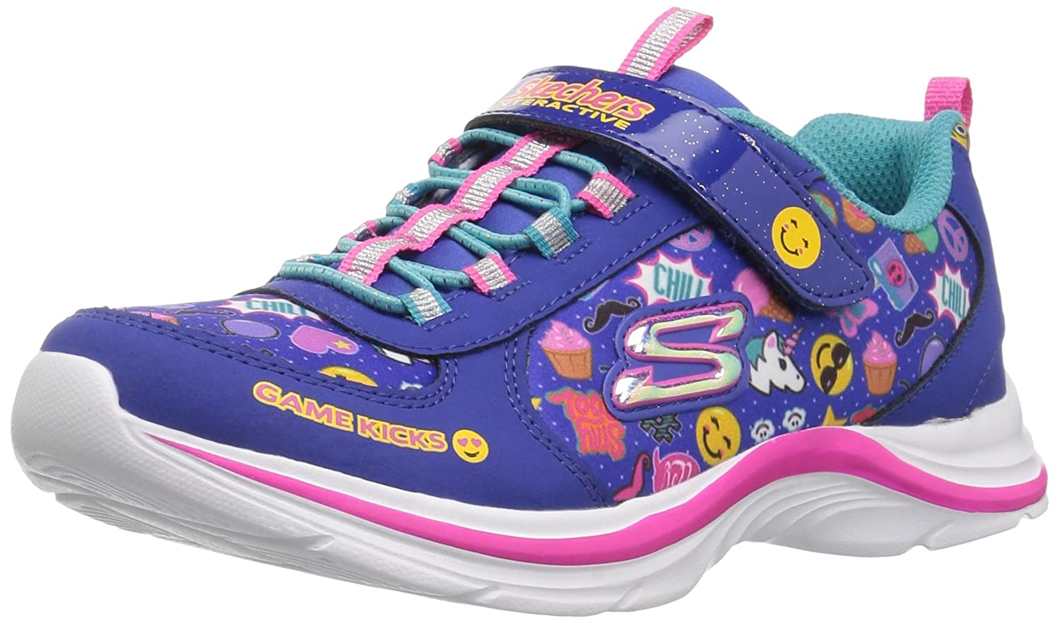 Skechers Girl's, Game Kicks Swift Kicks Emoti Match Slip on Light up Sneakers Skechers Girl' s