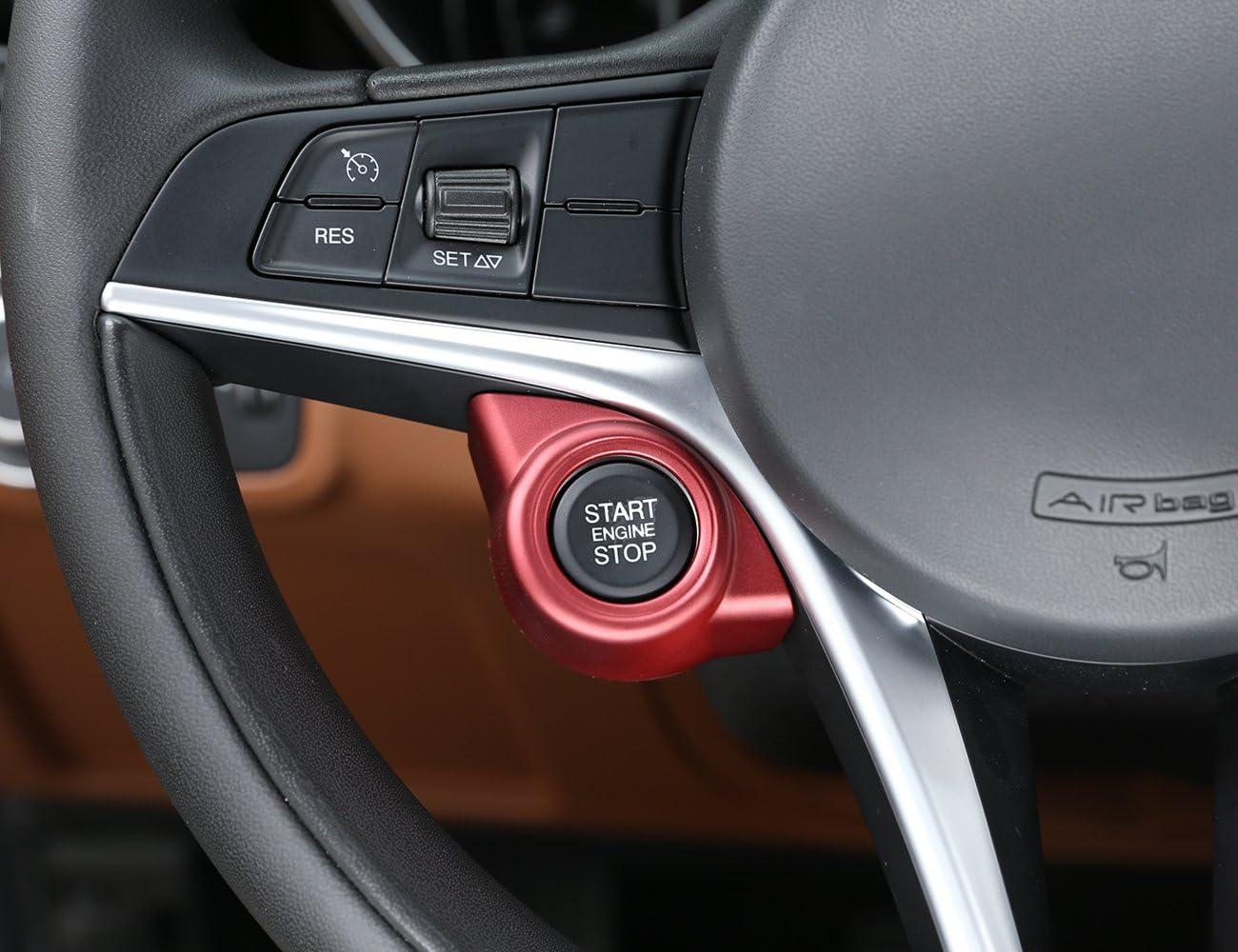 For Alfa Romeo Giulia Stelvio 2017 2018 2019 ABS Accessories Plastic Car Start Engine Stop Cover Trim