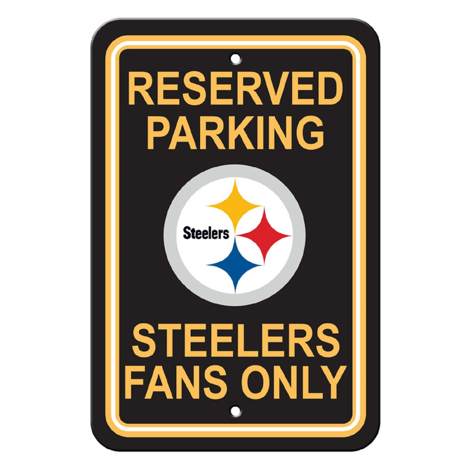 81648c94b Amazon.com   Flagpole To Go NFL Pittsburgh Steelers Parking Sign   Sports  Fan Street Signs   Sports   Outdoors