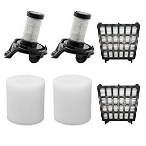 Lemige 2 HEPA Filters + 2 Foam Filters+ 2 Pre-Motor Filters Replacement Parts for Shark Flex DuoClean Corded Ultra-Light Vacuum HV390, HV391, HV392. Compare to Part 461FFJV390&464FFJV390