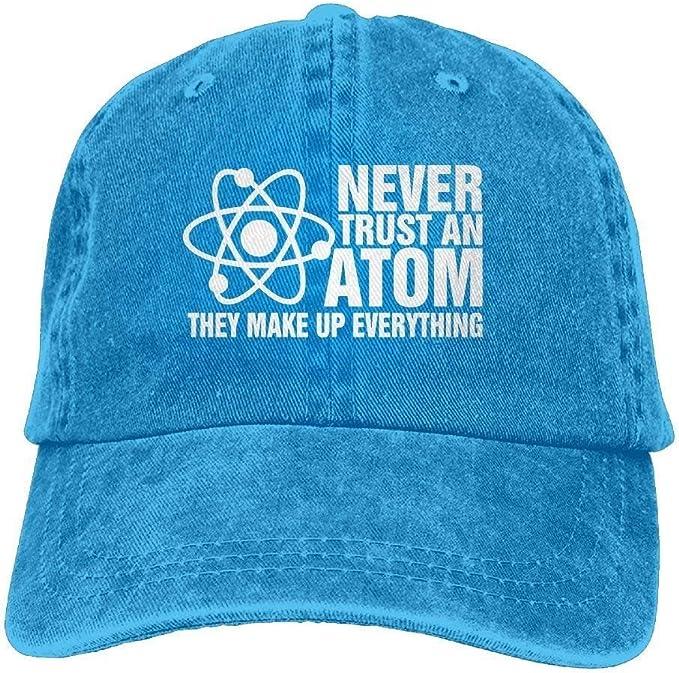 Nunca confíes en un átomo. Componen Todo. Gorra de algodón ...