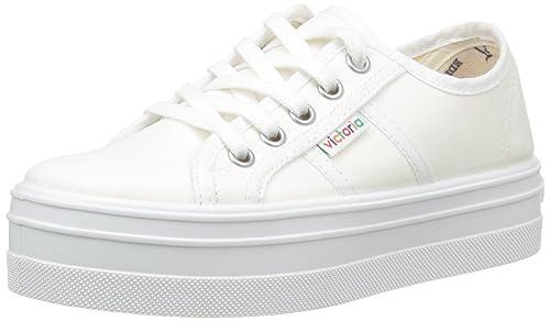 Victoria Basket Lona Plataf. - Zapatillas Unisex Adulto, Blanco (Blanc (20 Blanco)), 33 EU