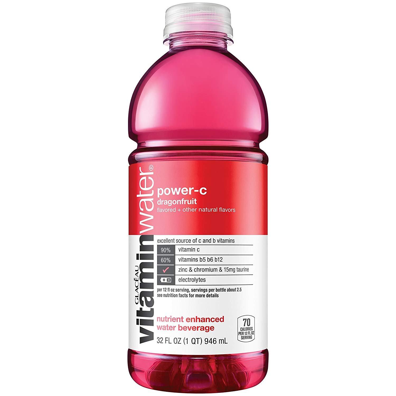 vitaminwater Power-C Dragonfruit 32 Oz Bottle (Pack of 6)