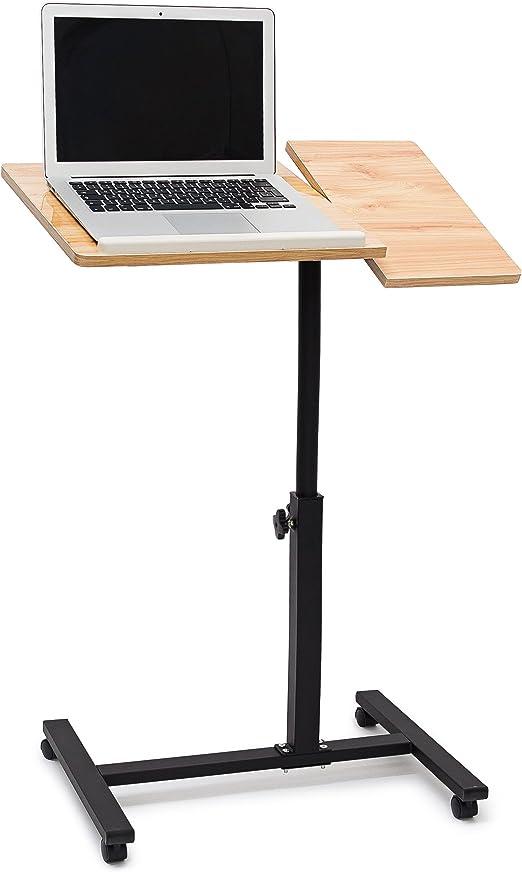 Relaxdays portátil de la mesa de altura regulable de H x B x T: 95 x