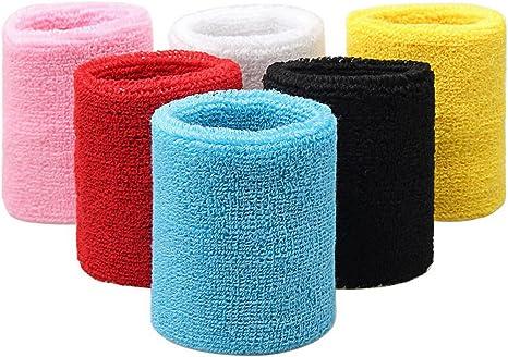 wowot 6 piezas algodón deportes muñequeras, colorido Muñequera ...