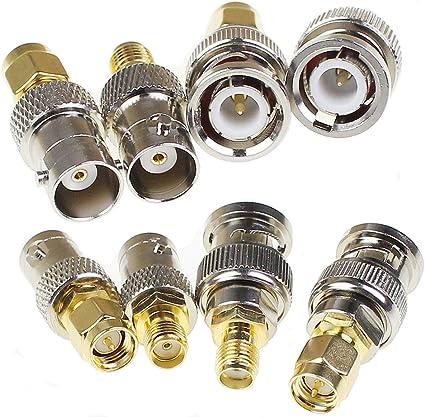 Amazon.com: SMA to BNC Kits 2 Set RF Coaxial Adapter Male Female ...