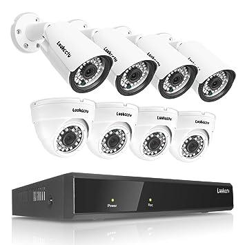 lookcctv Sistema de Seguridad del Kit 8CH H.265 NVR,Kit 8CH NVR ...