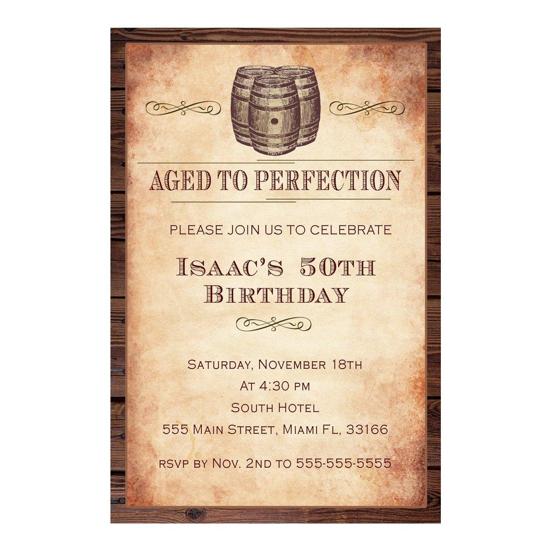 30 invitaciones personalizadas de barril de vino para fiesta ...