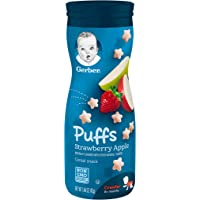 Gerber GRADUATES, Baby Food, Puffs, Strawberry Apple, 42g
