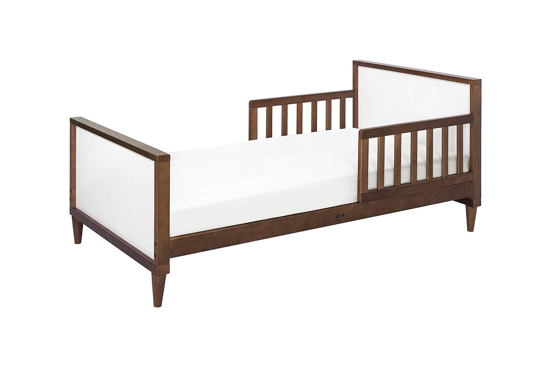 Babyletto Ziggy Toddler Bed, White/Walnut DaVinci - DROPSHIP M16890WL