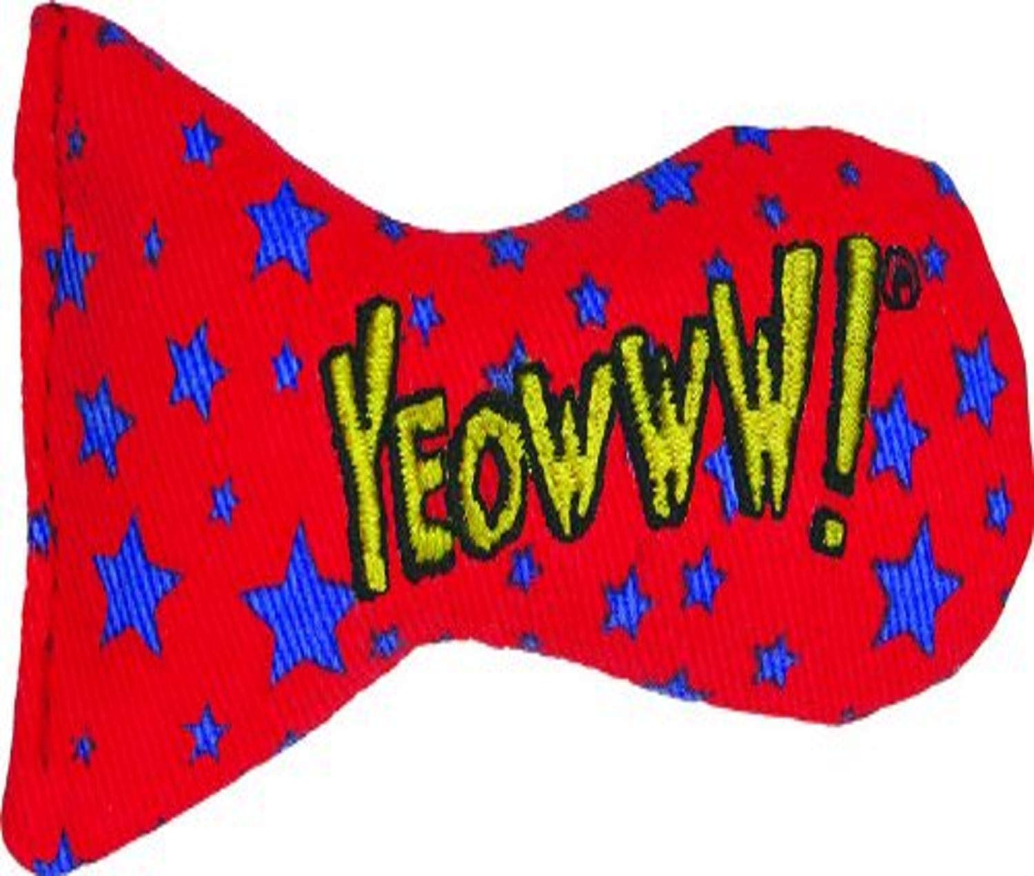 YEOWWW Stinkies Stars Cat Toy, red with blue stars
