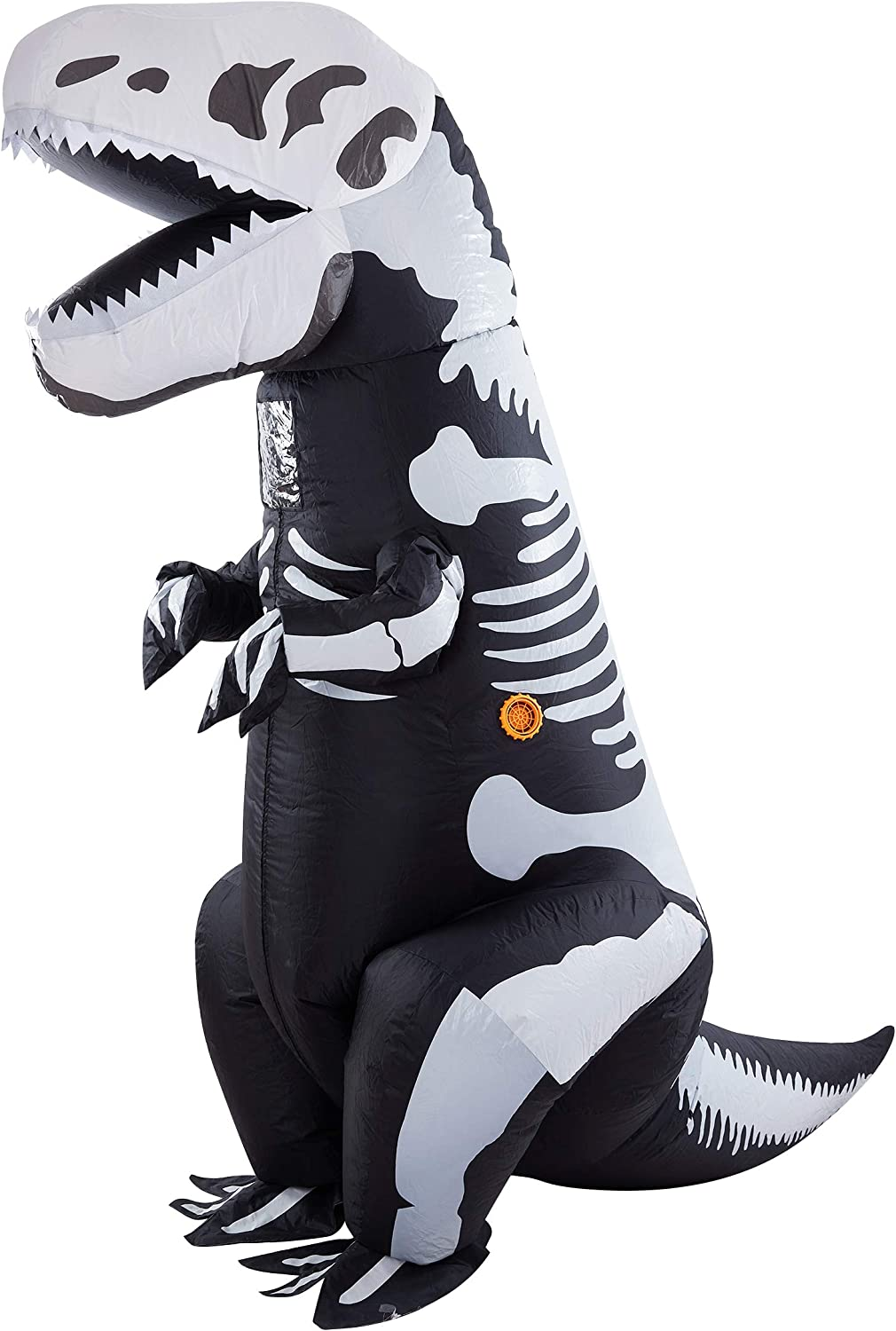 Twinkle Star 8.2FT Halloween Costume Adult Inflatable Skeleton Dinosaur, Tyrannosaurus T-Rex Halloween Decorations Party Fancy Dress Funny Cosplay Jumpsuit White