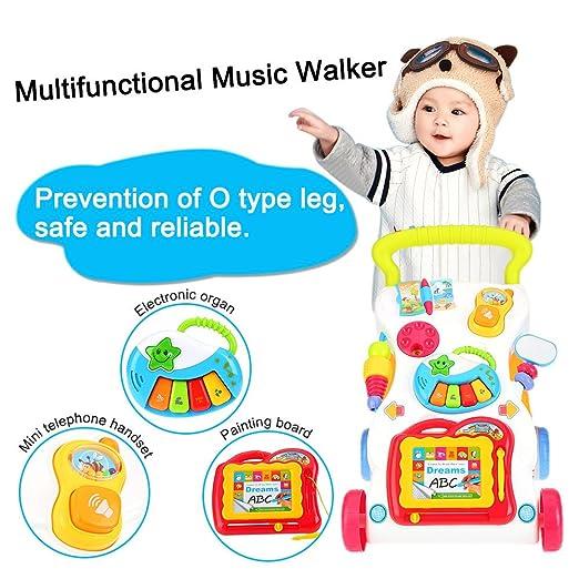 Bebé del bebé del Caminante del bebé de la música Primer Paso del carretón del bebé Ajustable de la Carretilla del bebé Que aprende: Amazon.es: Juguetes y ...