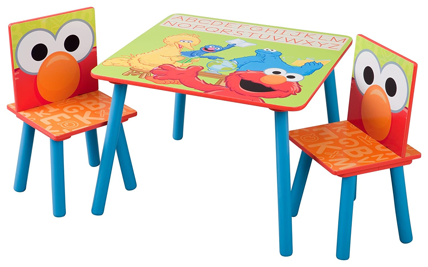sc 1 st  Amazon.com & Amazon.com: Delta Children Table u0026 Chair Set Sesame Street: Baby