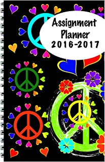 """product image for House of Doolittle 2016-2017 Weekly Academic Planner Assignment Book, Peace, 5 x 8"""" (HOD274RTG67-17)"""