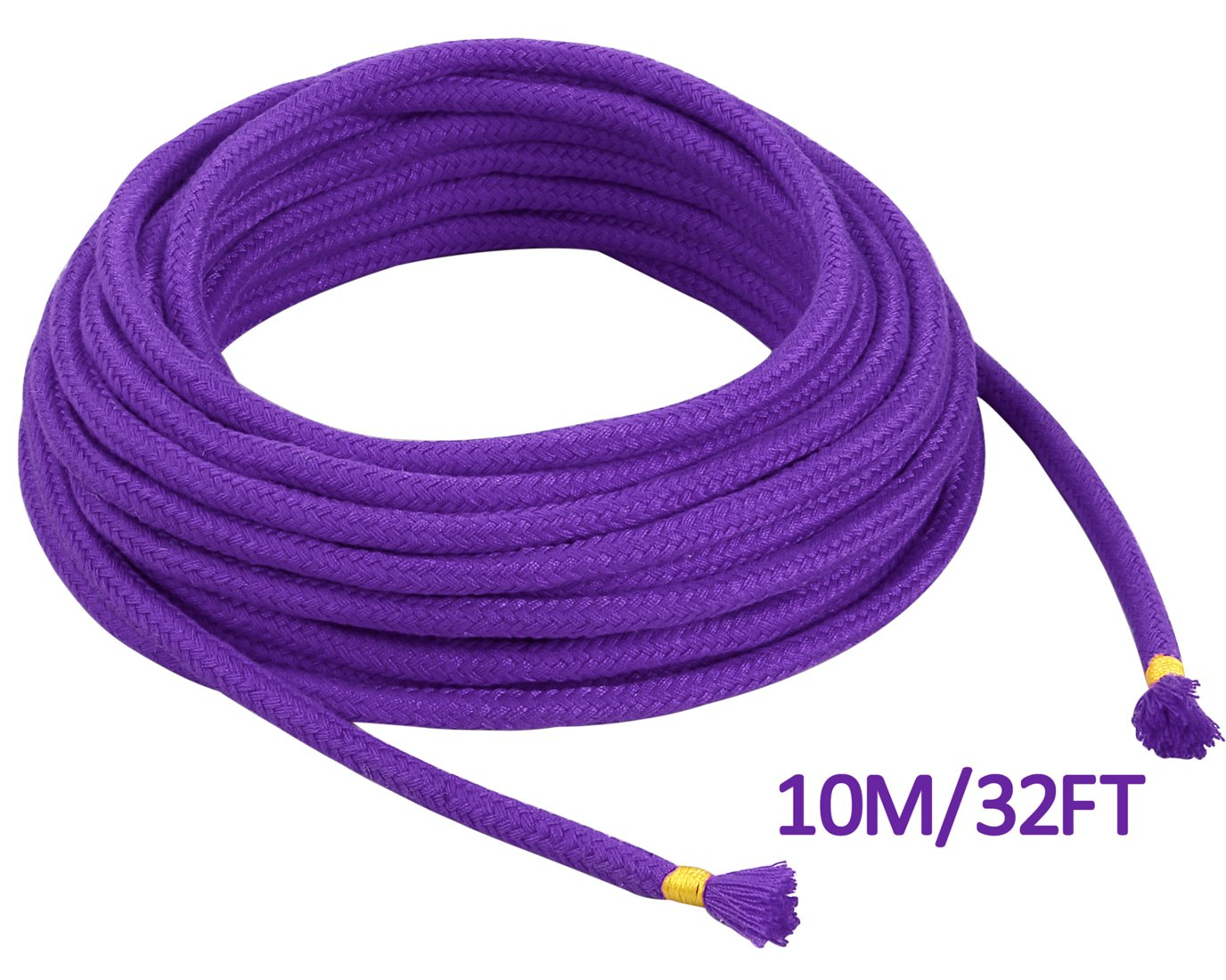BONTIME All-Purpose Soft Cotton Rope - 32 Feet Length,1/3-Inch Diameter (Purple,Pack of 3) by BONTIME (Image #2)