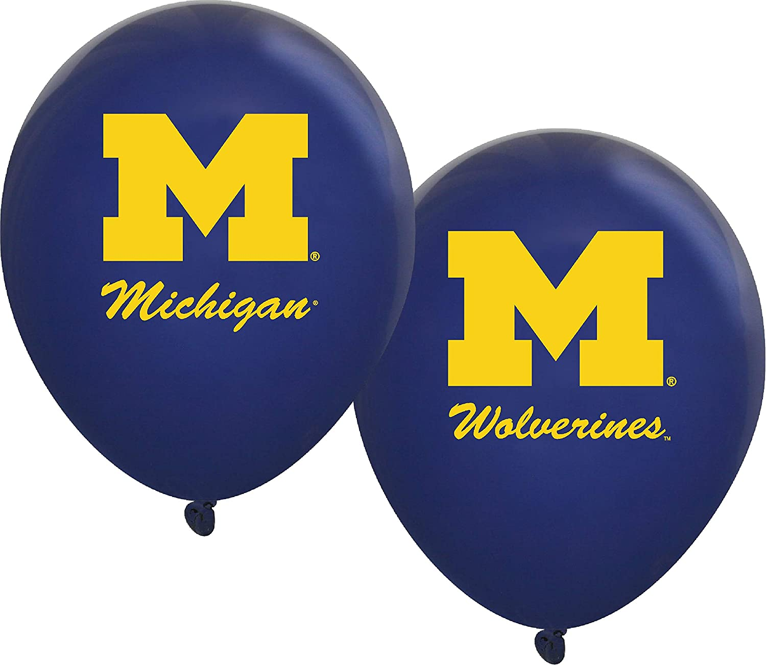 "Michigan Wolverines 11"" Balloons - 10/pkg."