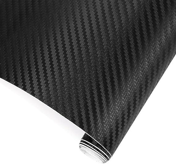 Trixes 3d Autofolie Carbon Vinyl Wrap 1500 Mm X 300 Mm Auto Motorrad Laptops Handys Pc Gehäusen Auto