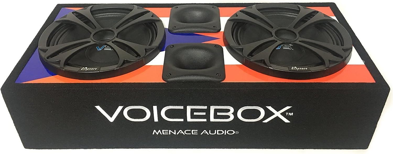 "BLACK//BLUE Menace Audio® Dual 10/"" Loaded Midrange Speaker Box AL"