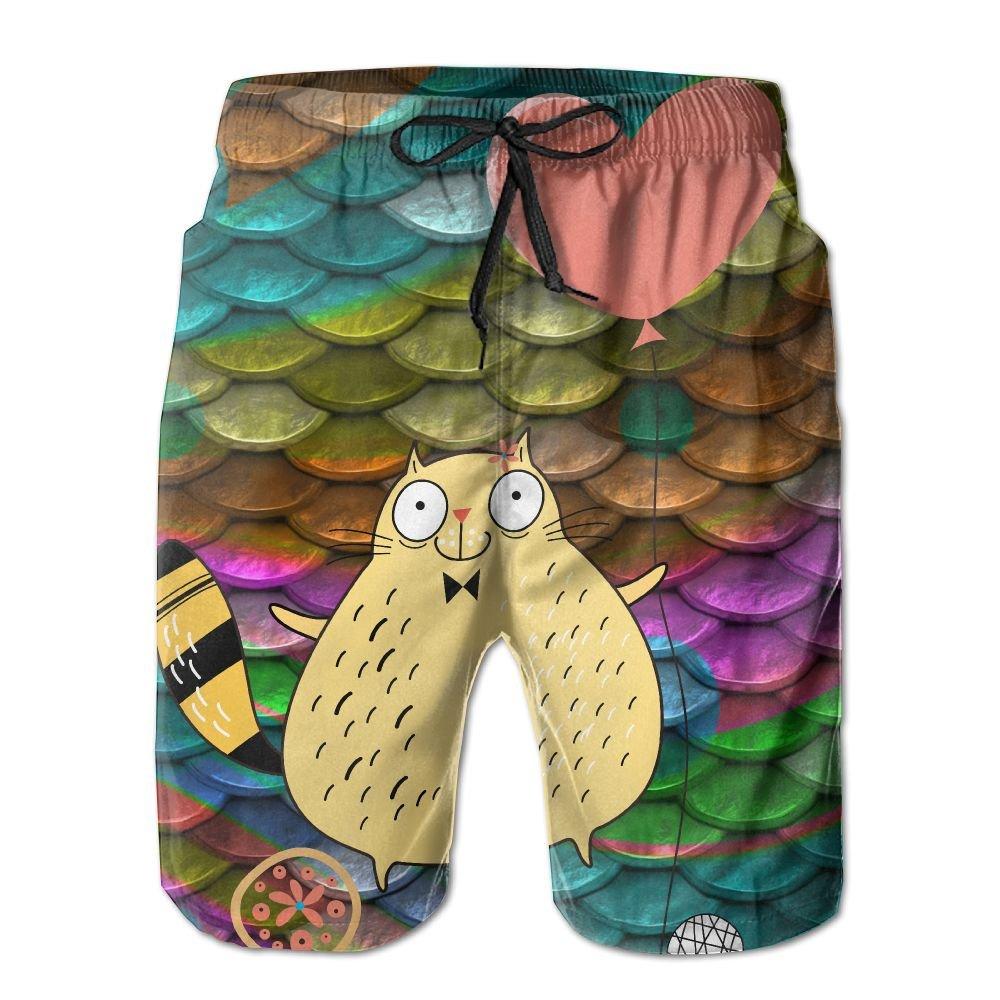 Ruin Beach Shorts Fat Cat Mens Fashion Board Shorts Mens Sleep Quick Dry Swim Trunks Beach Shorts