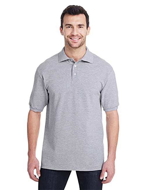 291e9169 Jerzees 443M Easy Care Double Mesh Ringspun Pique Sport Shirt:  Amazon.co.uk: Clothing