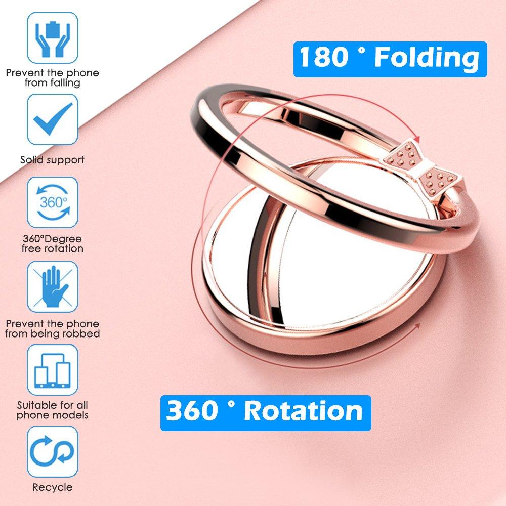 Amazon.com: Cell Phone Finger Ring Holder, IHUIXINHE 360 Adjustable ...