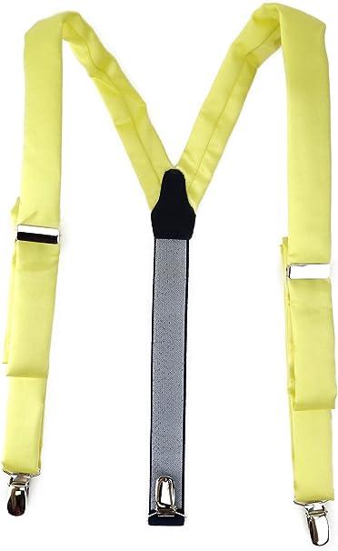 TigerTie - Tirantes - Básico - para hombre amarillo limón Talla única: Amazon.es: Ropa y accesorios