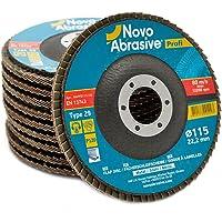 NOVOABRASIVE Discos De Láminas 115 x 22,2 mm