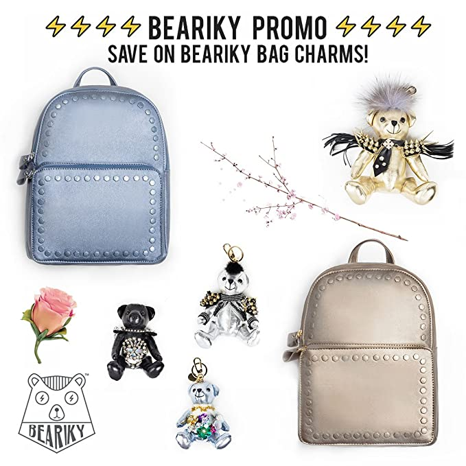 Amazon.com  Beariky Metallic Leather Backpack for Women - Stylish Fashion  Square Bag Purse for Girls (Dark Gold)  Clothing 9f730c686b