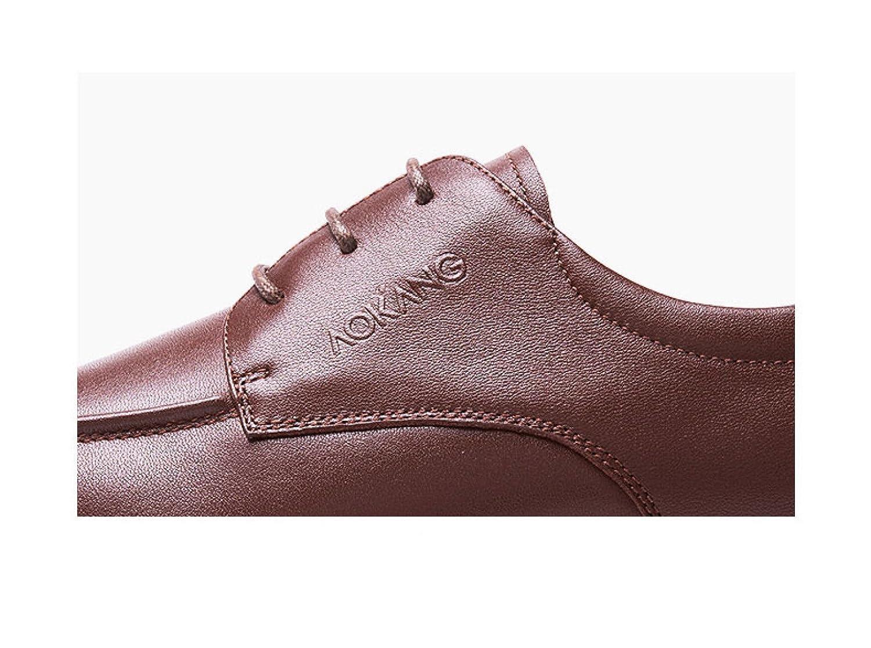 LEDLFIE Herren Schuhe Business Schuhe Runde Schnürung Herrenmode Business Schuhe Formelle Wear Lederschuhe Braun 5e7b51