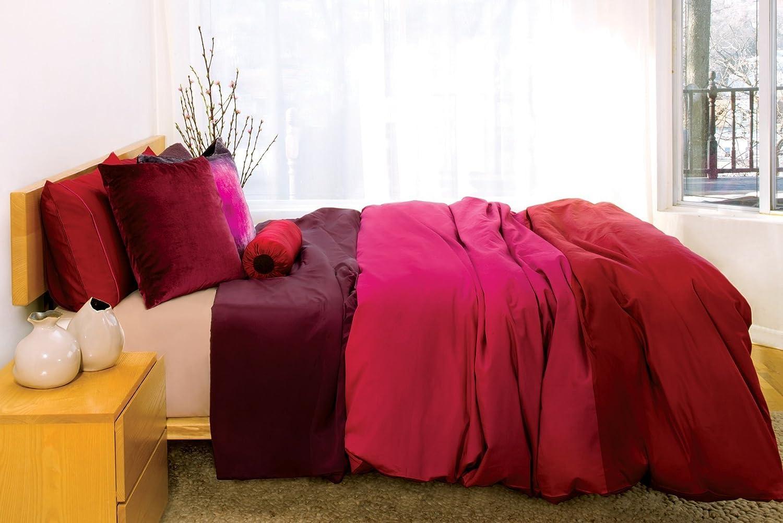 01cd8c7c2634 Amazon.com  2 threads Duvet Cover in Red and Fuchsia  Handmade