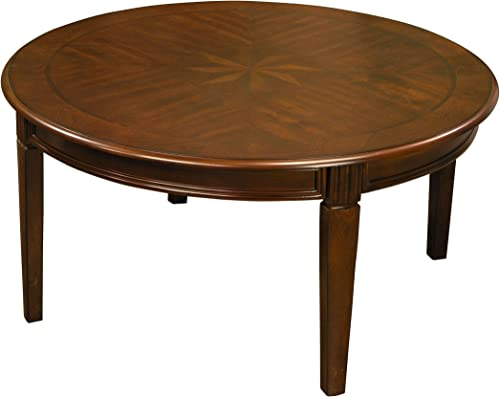 Classicl Round Coffee Table in Chestnut Finish