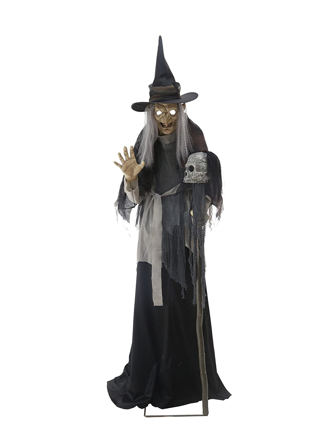 Animated Lunging Haggard Witch Halloween Prop