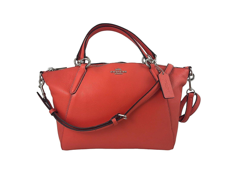 Coach Small Kelsey Pebble Leather Satchel in Bright Orange F36675  Handbags   Amazon.com 2c3000565c9cd