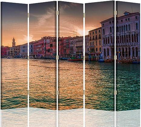 Feeby Foto Biombo Venecia 5 Paneles Unilateral Agua Arquitectura ...