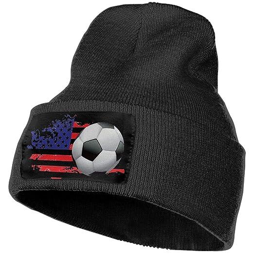 a2d05cdbf71b9f NGFF Women & Men American Flag Soccer Winter Warm Beanie Hats ...