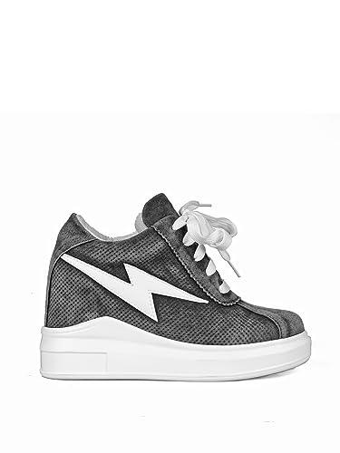 b8e42da21a71 Anthony Wang Kiwi Stone Wash Suede Hidden-Wedge Women s Fashion Sneakers in  Grey