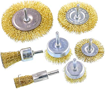 Rocaris 2 Inch Wire Drill Brush Set For Removal of Rust//Corrosion//Paint 10 Pack Wire Cup Brush with 1//4-Inch Hex Shank