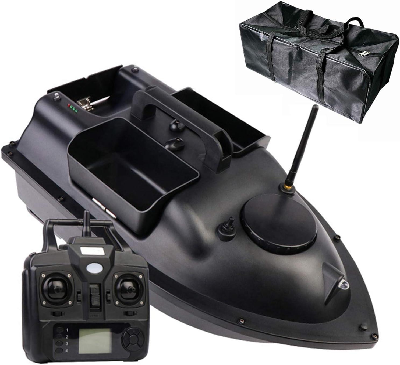 HAN XIU RC Bait Boat, Control Remoto Inteligente inalámbrico de 500 m, posicionamiento de GPS Volver AUTOMÁTICO, Herramientas de Pesca con Control Remoto de Motor Doble,GPS12000mA