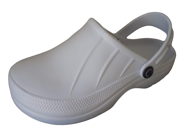 Chefs Nurse Kitchen Hospital Clogs Light Weight White Safety Shoes:  Amazon.co.uk: Shoes U0026 Bags