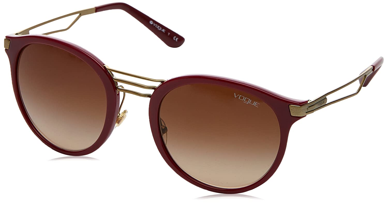 Vogue 0Vo5132S Gafas de sol, Dark Red, 52 para Mujer: Amazon ...