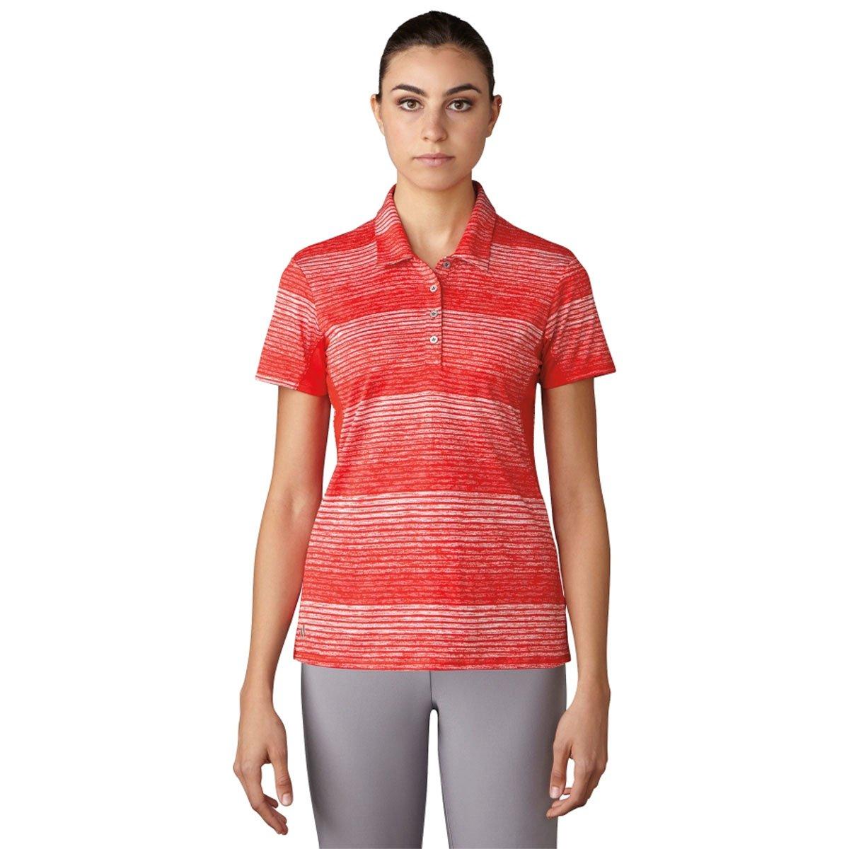 adidas Golf Polo de Manga Corta diseño de Rayas de la Mujer T ...